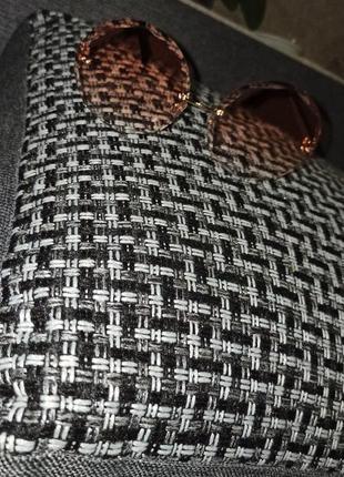 Новые солнцезащитные очки женские круглые без оправы уф400