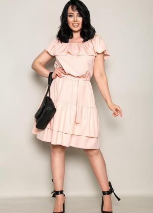 Женское платье батал размеры с 46 по 60