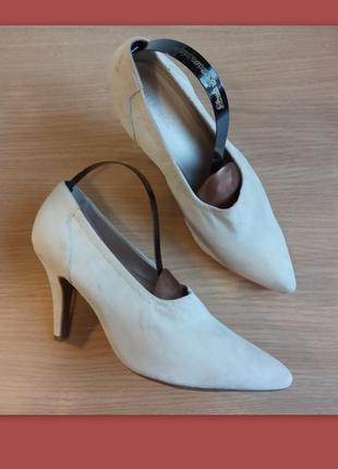 Легкие элегантные туфли 37, 40 р. bianco дания кожаная стелька, очень интересные
