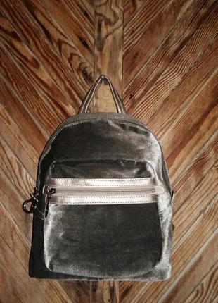Велюровый рюкзак david jones