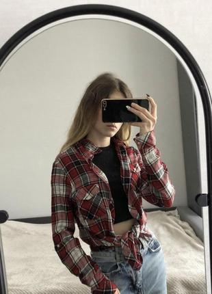 Рубашка сорочка клетчатая tally weijl