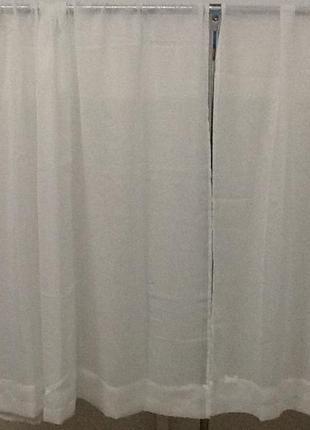 Красивые белые шторы 2 шторы