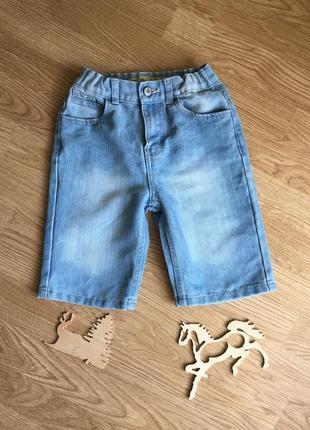 Красивые джинсовые шортики, бриджи на мальчика 7-8 лет. джинсові шорти