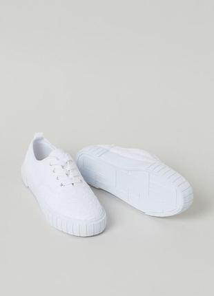 Кеды h&m белые ажурные