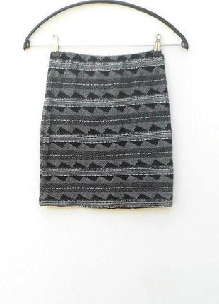 Трикотажная  летняя юбка мини вискоза