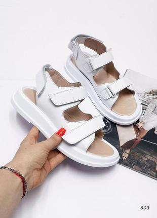 Босоножки сандали на липучках натуральная кожа