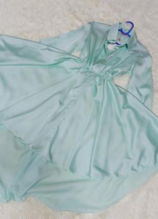 Платье рубашка рр42-46 цвет бирюза