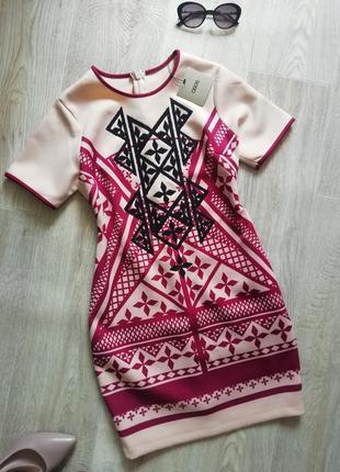 Asos платье футляр в геометрический принт, сукня, платья, плаття, сарафан, платье с камнями