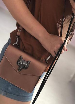 Итальянская кожаная сумочка на пояс сумка кроссбоди бронзовая італійські шкіряні сумки