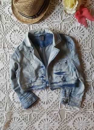 Стильная летняя укороченная куртка пиджак болеро деним