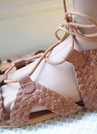 Кожаные босоножки сандали сандалии плетенка гладиаторы р.40 25,5 см р.39.5 next