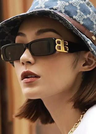 Трендові окуляри, очки чёрные широкие