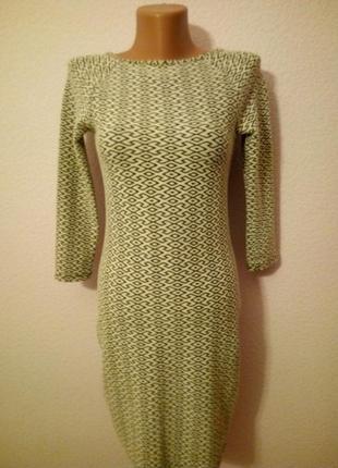 Коттоновое демисезонное стрейчевое платье
