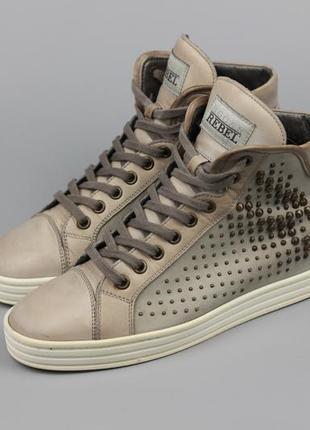 Брендовые кожаные кроссовки