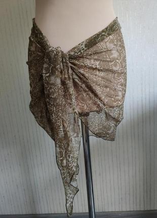 Парео платок шарфик сетка