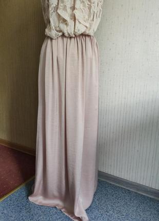 Длинная юбка нежно розовый цвет 🌸