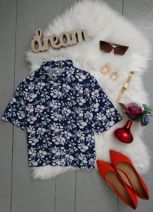 Распродажа!!! актуальная укороченная блуза в цветочный принт №123