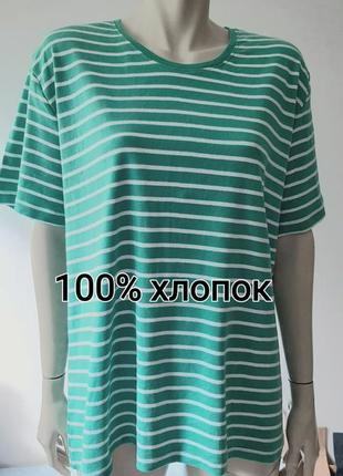 🌞⛵🌞 красивая футболка лазурного цвета в полоску