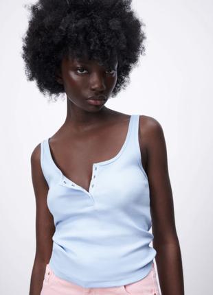 Zara new! топы в рубчик
