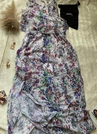 Шикарный сарафан/платье с разрезами