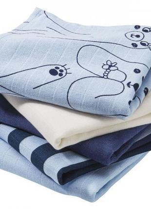 Муслиновые пеленки набор 5 шт размером 78х78 от lupilu