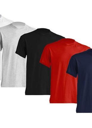 Комплект чоловічих базових футболок 5 в 1