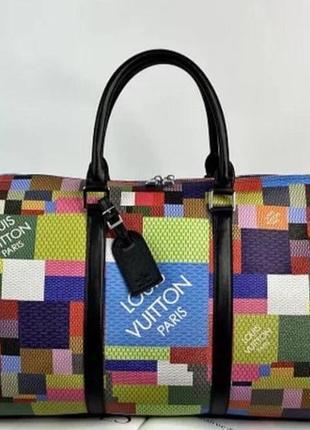 Дорожная сумка в стиле луис виттон louis vuitton