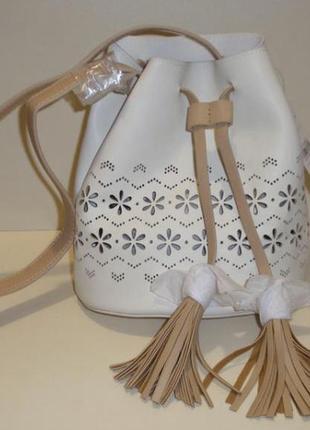 Красивая сумка-мешок через плече кроссбридинг
