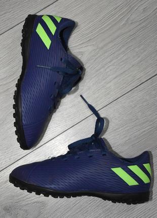 Детские футбольные бутсы сороконожки adidas messi nemeziz оригинал размер 31-32 стелька 19.5 см