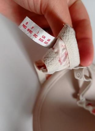 Цветочный лифчик бюстгальтер тонкий поролон лиф s.oliver  70c 32c4 фото