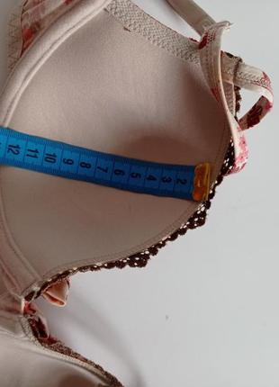 Цветочный лифчик бюстгальтер тонкий поролон лиф s.oliver  70c 32c5 фото