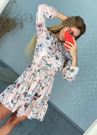 Короткое платье  👘 на длинный рукав
