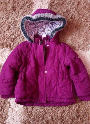 Теплая куртка парка для девочки