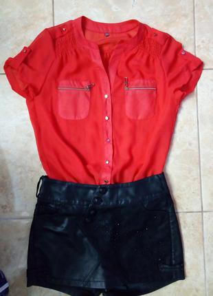 Шифоновая легкая блузка футболка