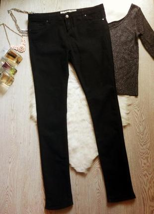 Черные джинсы скинни стрейч на высокий рост узкачи на длинные ноги джеггинсы батал
