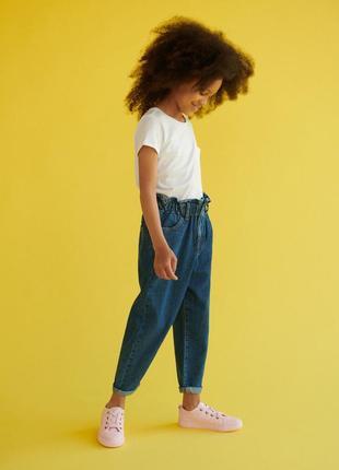 Крутые джинсы reserved mom . джинси paperbag на резинке на рост 146 см с ценниками и бирками новые.