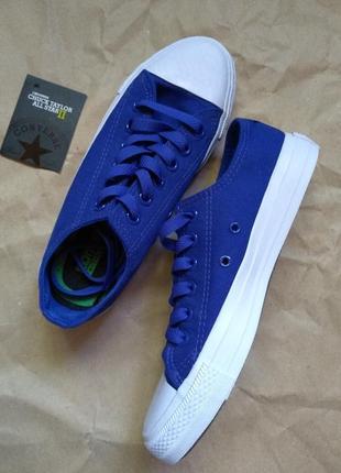 Синие с синими шнурками converse all star, кеди унісекс, кеды унисекс. 39
