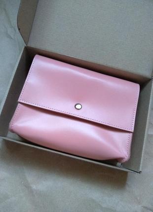 Розовая кожаная поясная сумка или через плече от raystoneua