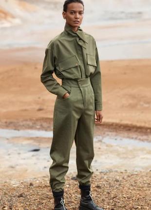 Стильні штани з завищеною посадкою, р.м, mango, іспанія / брюки
