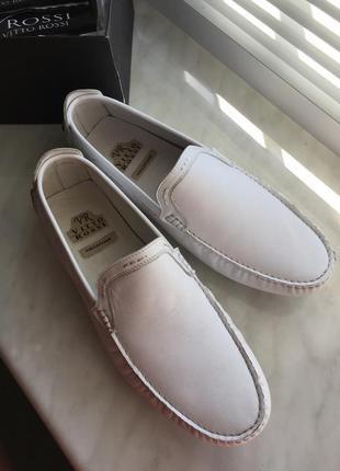 Туфли, мокасины кожанные от бренда vitto rossi новые с бирками! италия