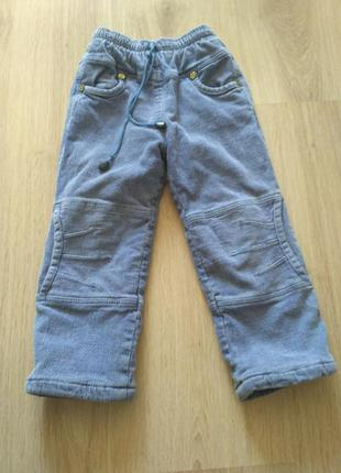 Тёплые зимние вельветовые штаны на 2-4 года