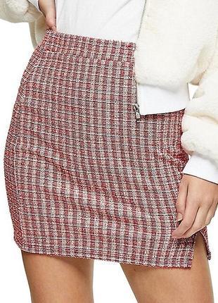 Мини-юбка с разрезом