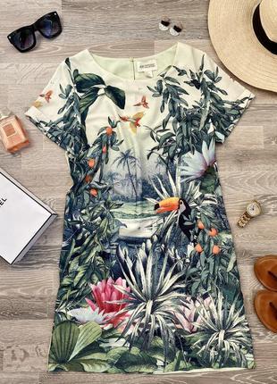 Платье пляж пальмы тропики l