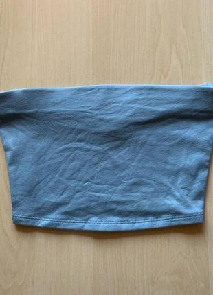 Топик бюстье голубой хлопок 100 грн