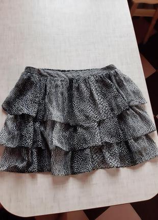Шифоновая юбка с воланами рюшами