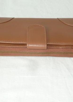 Maddison большой кожаный кошелёк портмоне клатч шкіряний гаманець