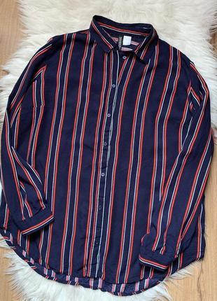 Полосатая рубашка блуза