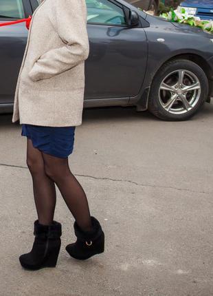 Зимние ботинки. натуральная замша!