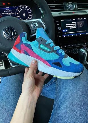 Adidas falcone blue шикарные женские кроссовки адидас фалкон