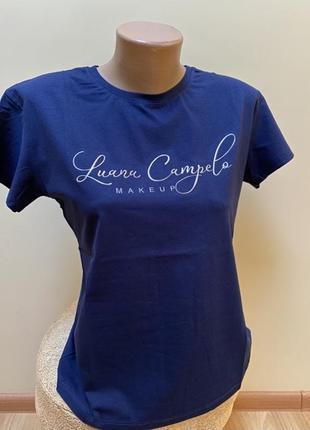 Синя футболка з написом 💙💙💙